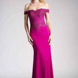 Off Shoulder Mermaid Shape Prom Dress CDCF158